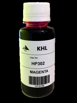 HP 302 M inkt 100 ml magenta huismerk HP302XLM100-KHL