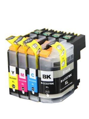 Brother LC-227 - LC-225 multipack 4 cartridges huismerk LC227MP4-KHL