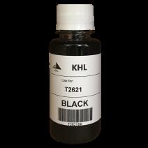 Epson T2621 inkt 100 ml zwart (KHL huismerk) T2621BK100T26XLT2601-KHL