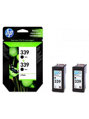 HP 339 zwart twinpack C9504EE (Origineel)