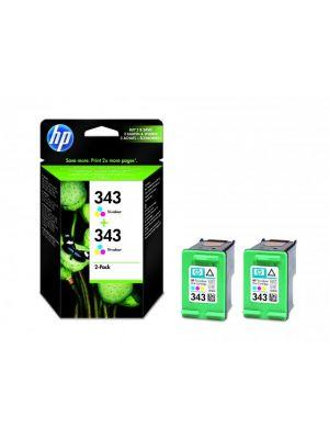 HP 343 kleur twinpack CB332EE (Origineel) HPCB332EE