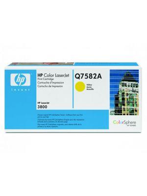 HP Tonercartridge Q7582A yellow   (Origineel) HPQ7582A