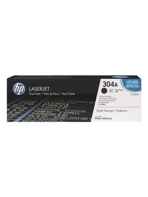 HP 304A (CC530AD) (2st.) Tonercartridge zwart (Origineel)