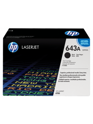 HP 643A Tonercartridge Q5950A zwart (Origineel) HPQ5950A