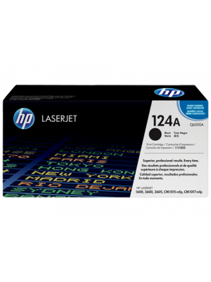 HP 124A Tonercartridge Q6000A zwart (Origineel) HPQ6000A