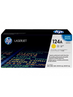 HP 124A Tonercartridge Q6002A geel (Origineel) HPQ6002A