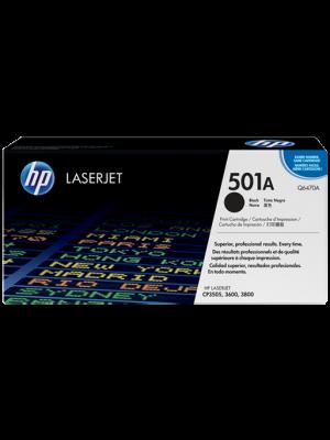 HP 501A Tonercartridge Q6470A zwart (Origineel) HPQ6470A