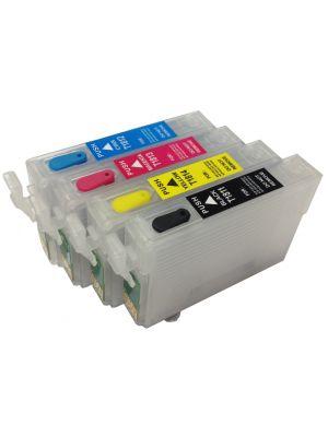 Hervulbare lege patronen voor Epson T1811-1814/T1801-1804/18XL met auto reset chip (4stuks)