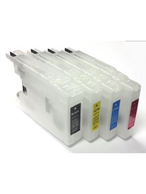 Hervulbare lege patronen voor Brother LC1220/LC1240/LC1280  (4stuks) hervlc1220lc1240lc1280