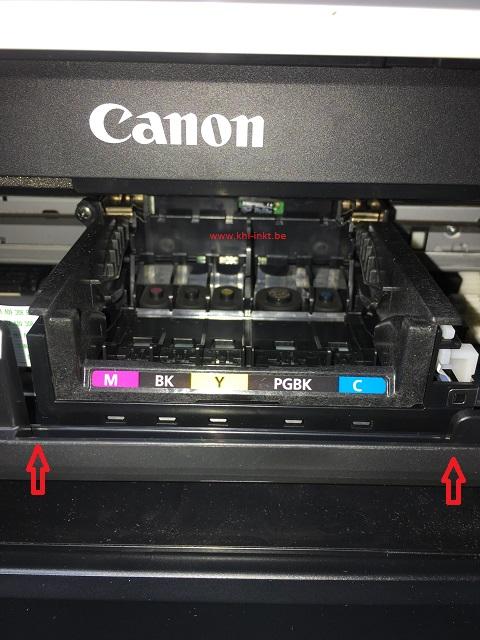 inktpatronen canon verwijderen